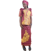 MD african women clothing sets skirts for print dresses patterns bazin skirt and top suit africa turbans