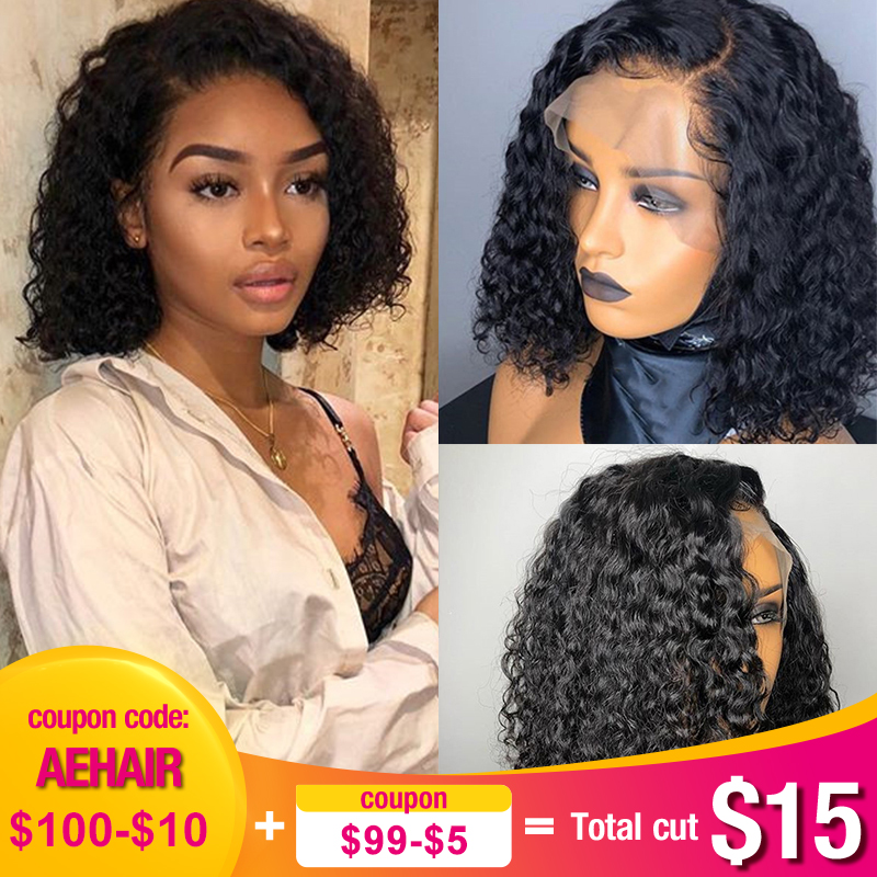 Deep Curly Short Bob Wigs 13x6 Lace Front Human Hair Wigs Brazilian Glueless 360 Lace Frontal Wig Fake Scalp Full End Dolago Wig