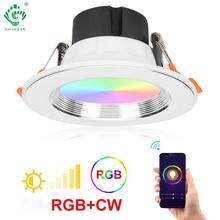 Recessed Lights LED Smart Downlight Intelligent Sensor Voice Control Amazon Alexa Google Home App control Ceiling Down