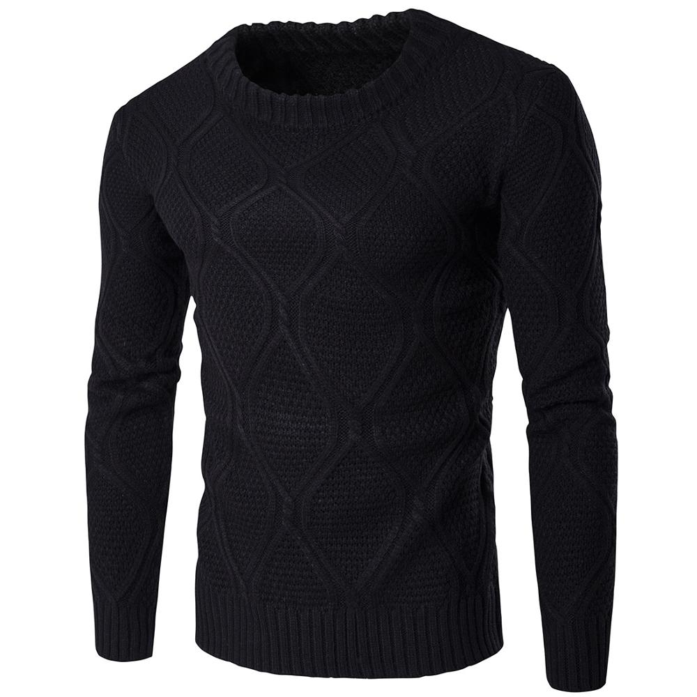 Fashion Casual Slim Fit Cotton Knitted Mens Sweaters Pullovers Men Clothing Knitwear