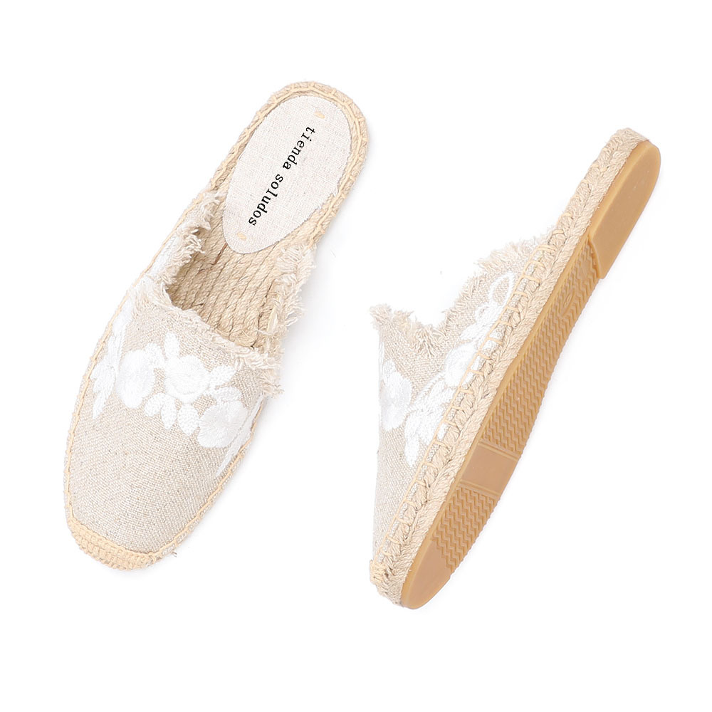 2019 Rushed New Arrival Hemp Summer Rubber Cotton Fabric Unicornio Slippers Tienda Soludos Espadrille Slippers For Flat Shoes  2