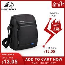 Мужская сумка мессенджер Kingsons, водонепроницаемая школьная деловая сумка с ручками 9,7 дюйма, модная сумка через плечо