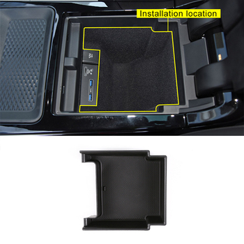 For Range Rover Evoque 2019 2020 Year Car Center Console Storage Box Phone Tray Accessories 1