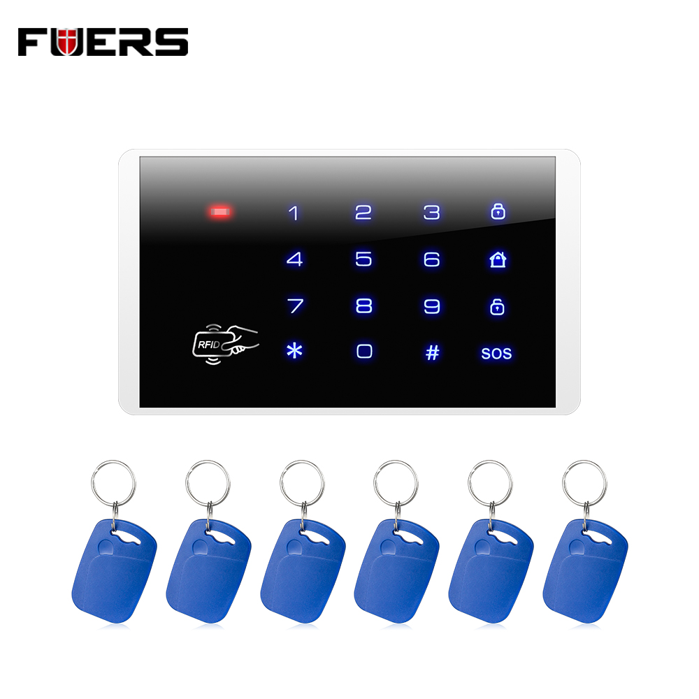 Fuers Wireless Keypad RFID Disarm Alarm System Touch Screen Keyboard For Kerui Home Security Alarm System