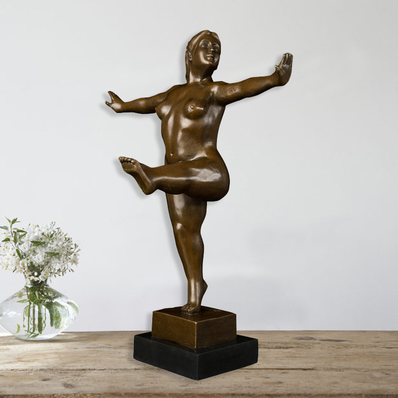Bronze Sculpture Statue Bronze Fat Yago Woman Art Statue Sculpture Decorative By Botero Artist