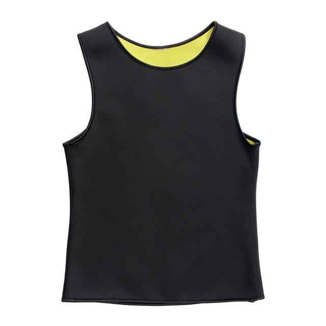 YBFDO Men's Hot Sweat Body Shaper Slimming Belt Belly Men Slimming Vest Fat Burning Shaperwear Waist Sweat Corset Tummy Fat Burn 1