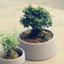 20cm round concrete flowerpot silicone mold cement garden flowerpot mold