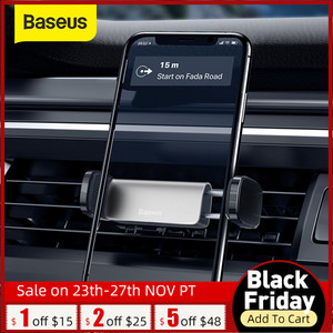 Baseus Car Phone Holder for Mobile Phone Support for 4.7-6.5 inch Phone Air Outlet Mount in Car Holder Stand for iPhone Xiaomi
