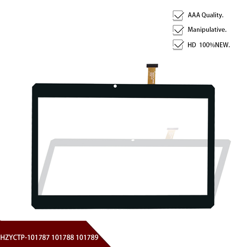"""Black 100% New 10.1"""" Touch Screen Digitizer Glass Panel for HZYCTP 101787/101788 /101789 Replacement part Free shipping