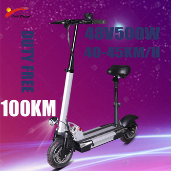 Patinete eléctrico plegable para adultos, Scooter Eléctrico de 48V y 500W, 45...