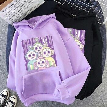 Women Sweatshirt Hoodies kpop korean Cute Tops Graphic Tees Dropshipping Print Harajuku Loose Oversized Hip Hop Kawaii Clothes 1