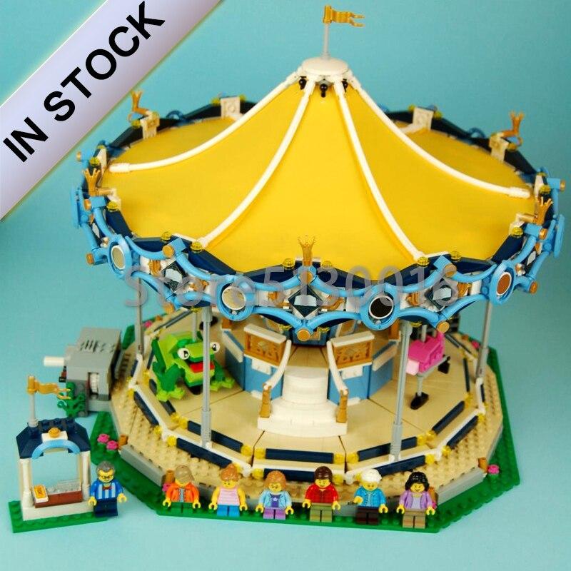 In Stock Street View The New Carousel 2705Pcs Set Children Building Blocks Bricks Boy Toys Model 10257 15036
