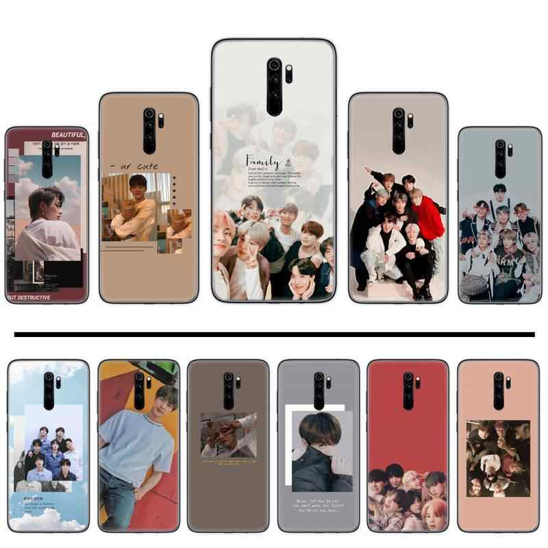 Kpop Musik Pop Korea Cover Hitam Soft Shell Phone Case untuk Xiaomi Redmi 4X5 Plus 6A 7 7A 8 Mi8 8 Lite 9 Note 4 5 7 8 Pro