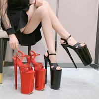 Voesnees 2020 Super High Waterproof Platform Sandals Women Fish Mouth Open Toe Pole Dance High Heels 26CM nightclub catwalk shoe