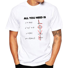 All You Need Is Love Math T Shirts Summer Fashion Graphic