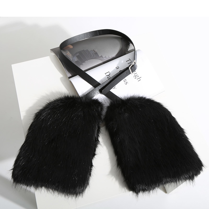 Fashion Fur Warm Woman Gloves Hanging Neck Design Winter Accessary