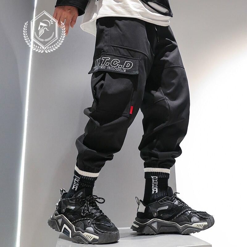 Men Loose Safari Style Pants Fleece Heavyweight Harem Jogger Pants Fashion Ankle-Length Hip Hop Pants