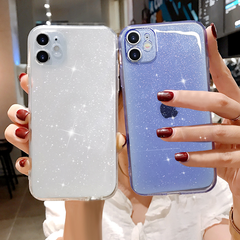 Luxury Candy Transparent Phone Case For iphone 11 12 mini Pro Max XS X XR 7 8 plus SE 2021 Soft Silicone Shockproof Cases Cover 1