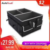 Autoyouth carro tronco organizando saco multifuncional ferramenta portátil dobrável saco de armazenamento para armazenar sundries economia espaço bagagem Organizadores Automóveis e motos -