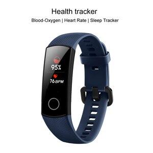 Image 2 - Huawei Honor Band 5 opaska globalna wersja tlen krwi inteligentny zegarek zespół AMOLED Fitness Tracker sen Data pulsometr