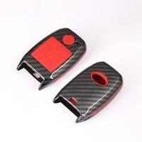 Z włókna węglowego ABS samochód klucz skrzynki nakładka na klucz shell Holder dla Kia Sedona Grand karnawał Sorento 6 przycisk w Etui na kluczyki samochodowe od Samochody i motocykle na