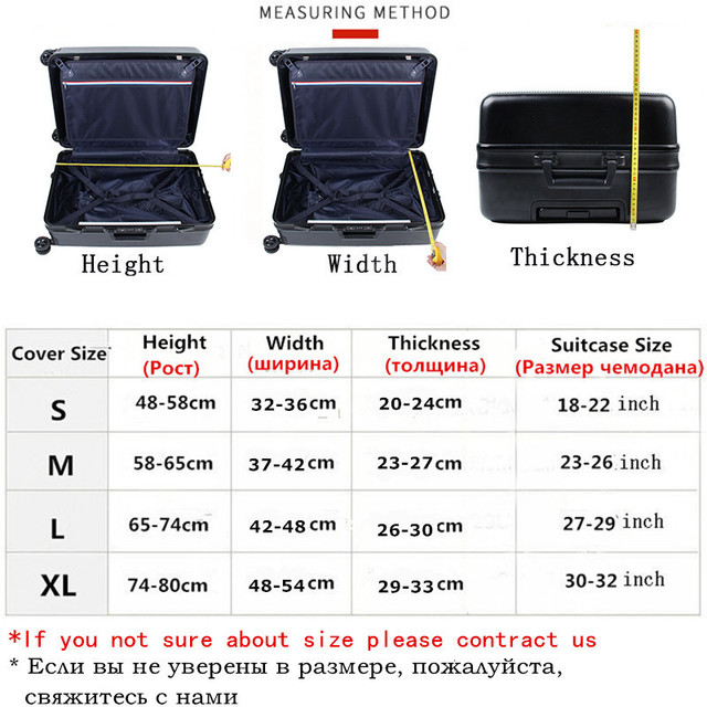 Thicker Travel Luggage Protective Cover Suitcase Case Travel Accessorie Baggag Elastic Luggage Cover Apply to 18-32inch Suitcase 1