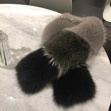 New Real Fox Fur Genuine Luxury Big Crocs Scarf Plush Neck Warmer Collar Soft Wi