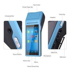Image 2 - נייד כף יד PDA אנדרואיד קופה מסוף Terminales 3G אלחוטי Wifi Bluetooth מחשב כף יד עם 58mm מדפסת תרמית 5.5 מגע מסך