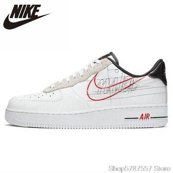 New Nike Air Force 1 Script Swoosh Women White Skateboarding Shoes Original Light-Weight Outdoor Sports Sneakers недорого