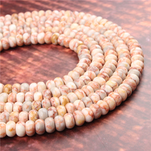 Natural Picture Stone Gem 5x8x4x6MM Abacus Bead Spacer Bead Wheel Bead Accessory For Jewelry Making Diy Bracelet Necklace