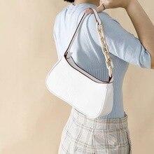 2020 crystal crocodile pattern leather acrylic chain shoulder bag small underarm crossbody