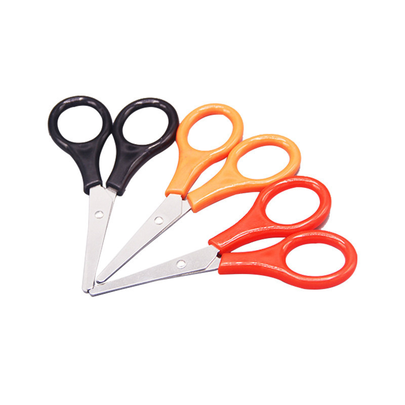 Household Stainless Steel Children Safe Handmade Small Nail-scissor Multi-functional Plastic Handle Mini Paper Cutting Supportin