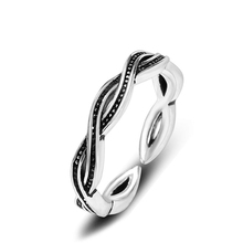 KOFSAC Simple 925 Sterling Silver Ring Unisex Charm Double Twist Thai  Women Jewelry Different Occasion Accessories