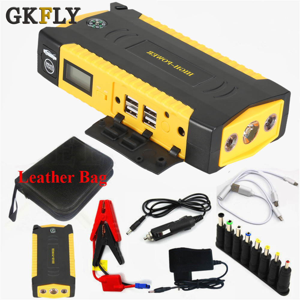 GKFLY Car-Battery-Booster-Charger Car-Starter Power-Bank Starting-Device Diesel Petrol title=