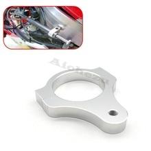 Pul suporte de montagem de garfo de direção, de alumínio, fixador de pé para motocicleta, modificação de prata