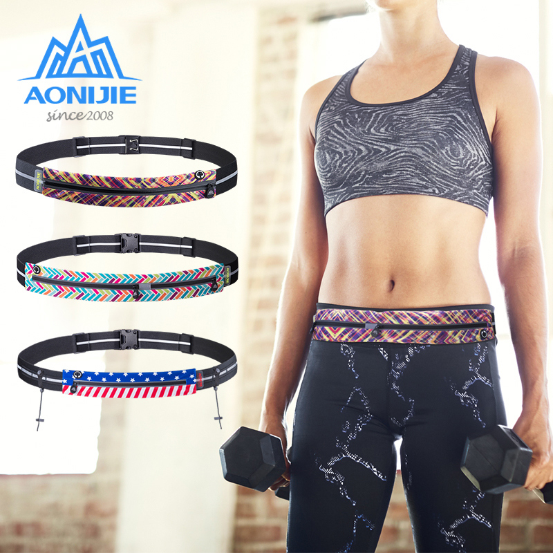 AONIJIE W966 W956 W960 Running Waist Bag Race Number Belt Phone Bib Holder Fanny Pack For Marathon Cycling Travel Fitness Gym