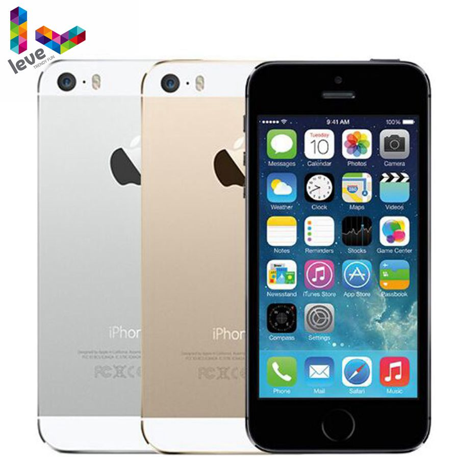 Original Unlocked Apple IPhone 5s 4G LTE 4.0'' 16GB/32GB/64GB ROM WiFi GPS GPRS 8MP IOS Touch ID Fingerprint Mobile Phone