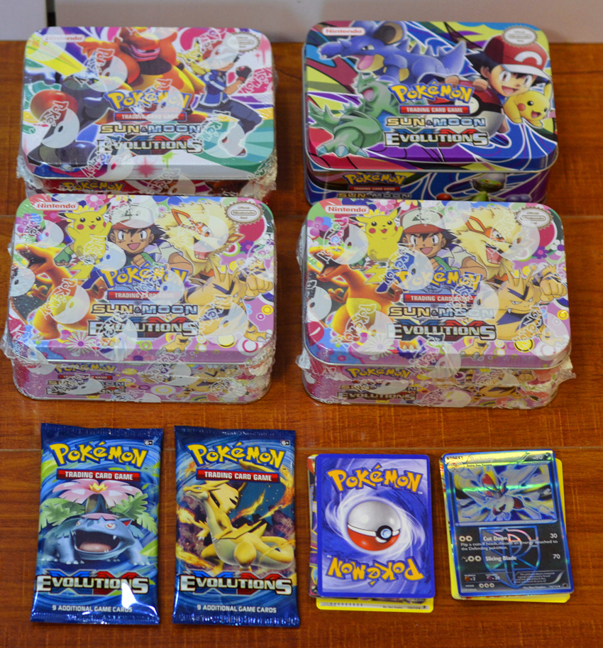 POKEMON Pokemon Medium Iron Box With 69 Game Cards