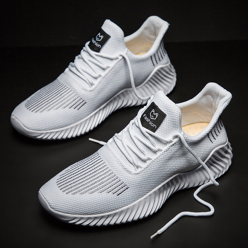 Sneakers Men Breathable Flyknit Running Shoes Men Flat Trainers Man Light Weight Male Athletic Shoes Zapatillas Hombre Deportiva
