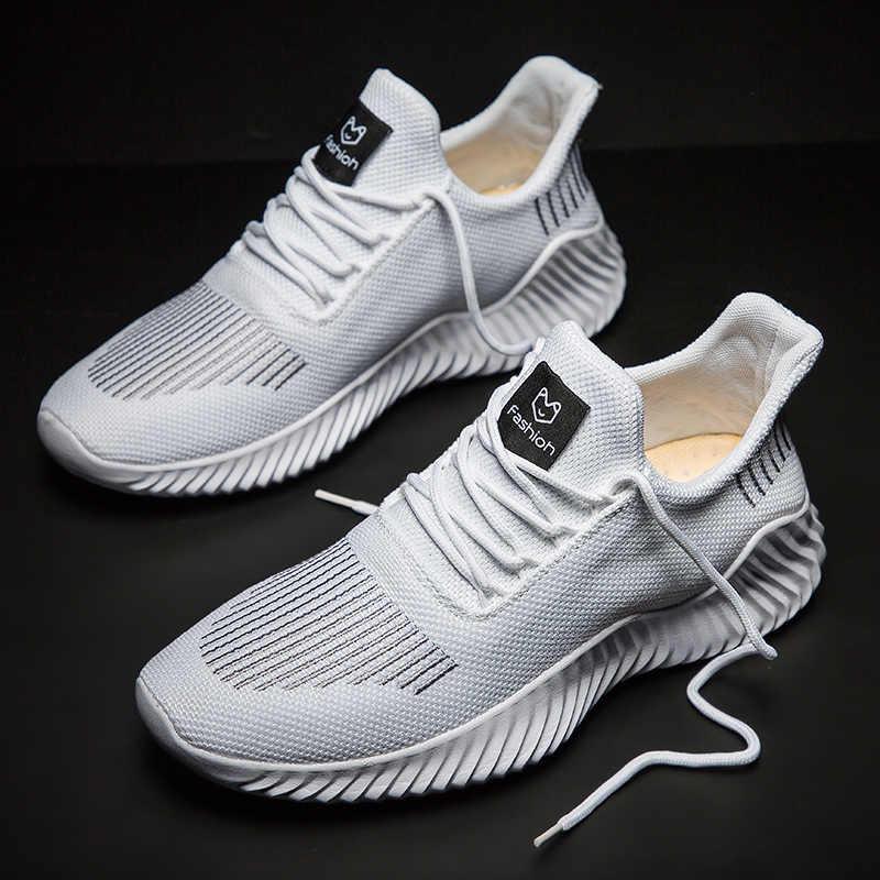 Zapatos casuales cómodos transpirables para hombres, zapatillas de caminar ligeras, zapatillas negras, calzado para hombres con cordones, zapatos para correr para hombres de gran tamaño