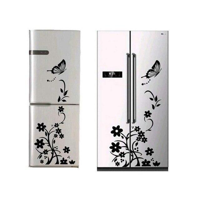 Creative butterfly flower refrigerator wallpaper home decoration mural DIY art decal children's room kitchen sticker 1