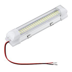 Image 2 - 12V 72 LED 차량 인테리어 스트립 조명 ON/OFF 스위치 바 자동차 밴 캐러밴 보트 트럭 트레일러 램프 야외 캠핑 홈