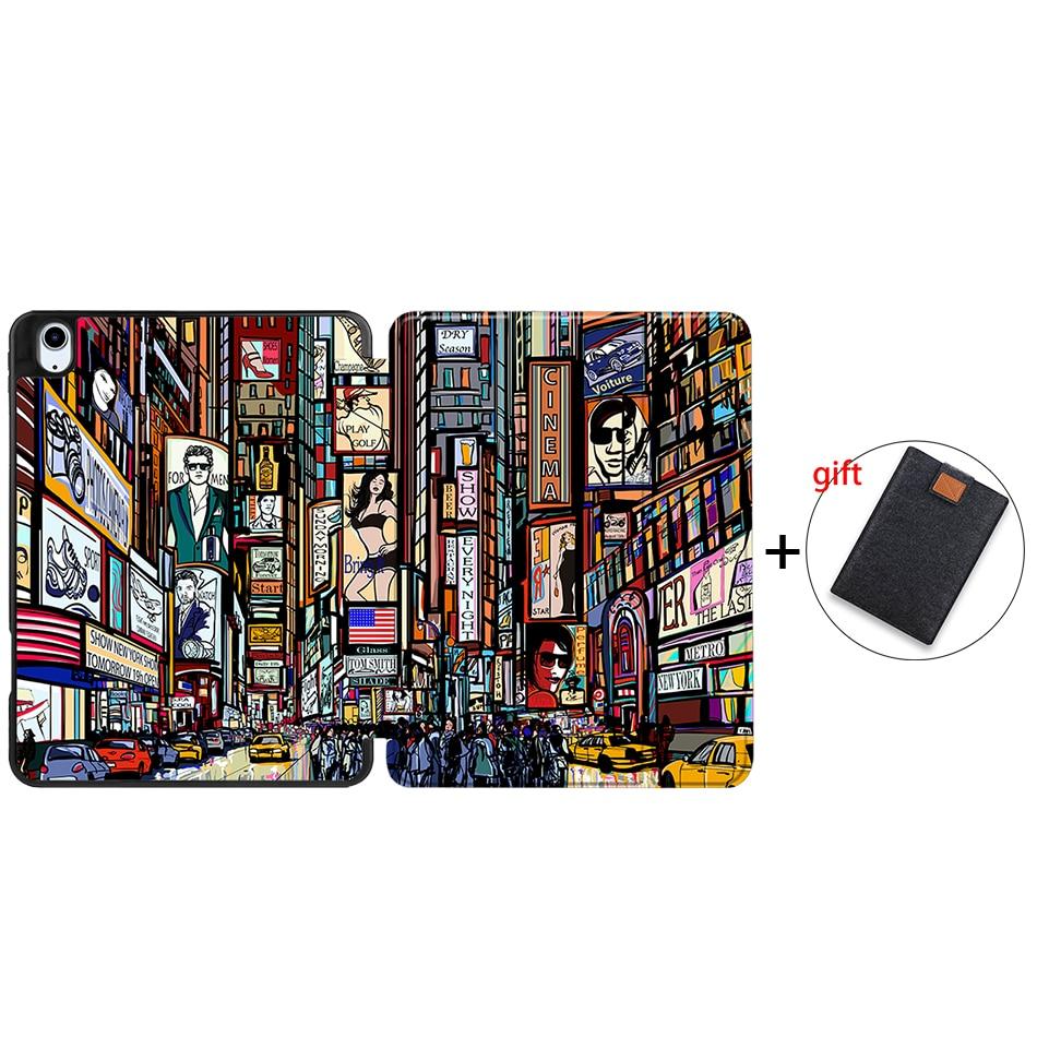 IPBC10 Beige MTT Tablet Case For iPad Air 4th Generation 10 9 inch Soft TPU PU Leather Flip