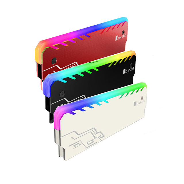 2 sztuk/partia dla RAM pulpit pamięci radiator Cooler Shell RGB 256 kolor automatyczna zmiana aluminium radiator RAM kamizelka chłodzenia