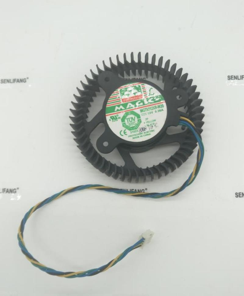 For MGT8012YB-W20 12V 0.48A 4 Wires 4 Pins Vga Fan Graphics Card Cooler