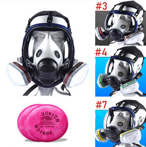 Respirator Chemical-Mask Spray Paint FULL-FACE-FILTERS Silicone 6800 Dustproof for Laboratory-Welding