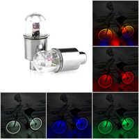 1Pcs LED Glühbirnen und Leuchtstoffröhren LED Reifen Rad Ventil Kappe Licht 5 Farben Fahrrad licht Für Fahrrad Motorbicycle Rad mit Taste Batterien