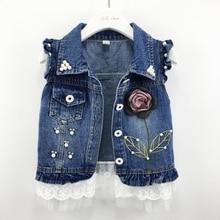 От 1 до 7 лет джинсовый жилет для малышей джинсовая куртка повседневная верхняя одежда для детей весенне-осенняя одежда для малышей Детские жилеты топы для малышей