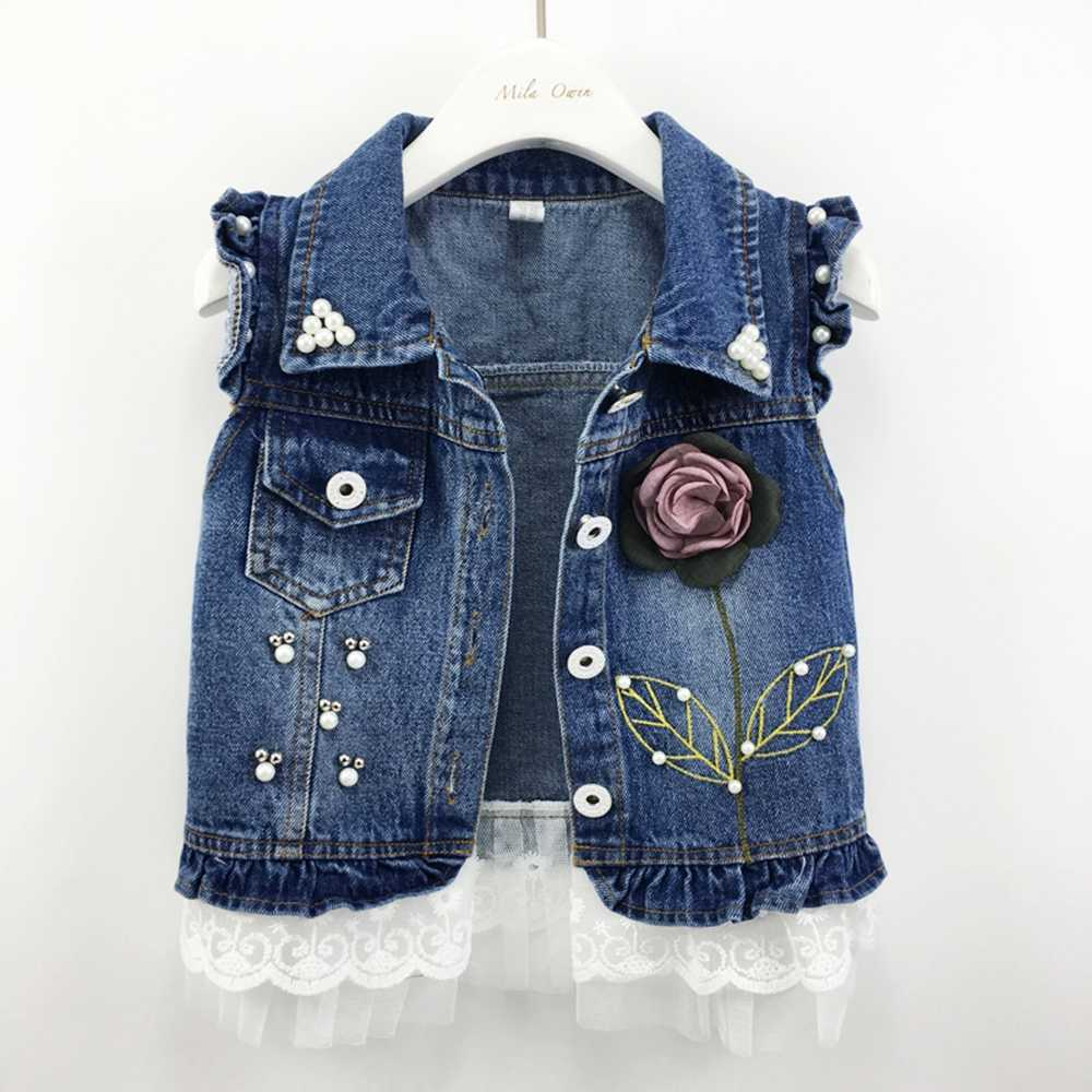 1-7T Baby Denim Vest Babe Jeans Jacket Casual Outerwear Children Clothing Spring Autumn Bebe Clothes Kids Vests Toldder Tops