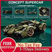2021 moc 2527 pçs tijolos carro técnico brinquedos lamborghini sian bloco de construção super racing veículo modelo presente para o namorado